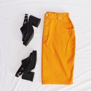 80's/90's Diana Marco Mustard Skirt